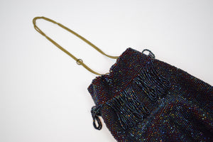 1920s Iridescent Beaded Flapper Bag