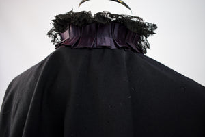 1890s Victorian Mourning Lace Collar Capelet