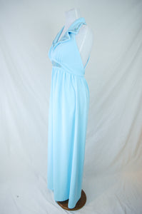 1970s Soutache Collared Gown