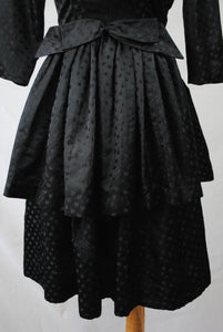 1950/60s Peplum Tiered Dress