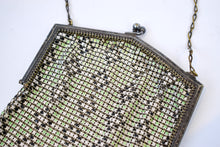 1920s Whiting & Davis Poison Green Mesh Bag