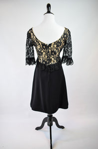 1960s Illusion Lace Cocktail Dress