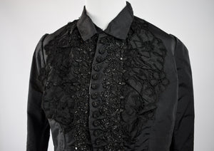 1880s Victorian Mourning Beaded Bodice Jacket