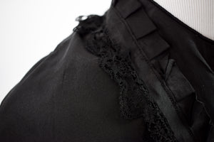 1880s Victorian Mourning Lace Bell Sleeve Bodice