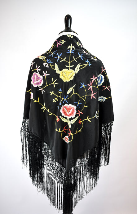 1930s Embroidered Piano Shawl