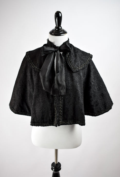 1880s Victorian Mourning Capelet