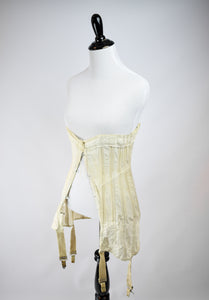 1910s Edwardian Lace-Up Corset