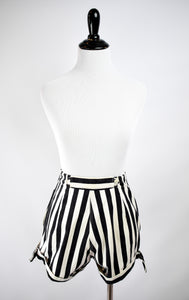 1940/50s Black & White Striped Shorts
