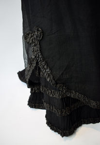 1880s Victorian Lace & Net Skirt