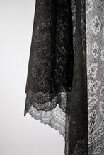 1870s Victorian Mourning Lace Chantilly Shawl