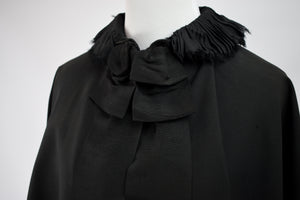 1890s Victorian Mourning Collared Capelet