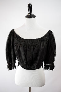 1880s Victorian Mourning Formal Bodice