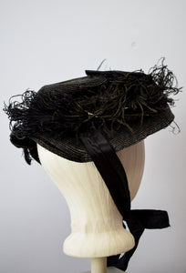 1890s Victorian Mourning Hat