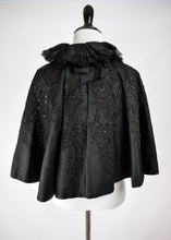 1890s Victorian Mourning Beaded Capelet