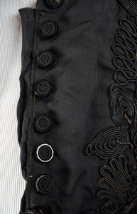 1880s Victorian Mourning Soutache Bodice