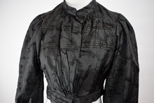 1890s Victorian Mourning Silk Patterned Bodice