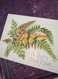 1910s Edwardian New Year's Card