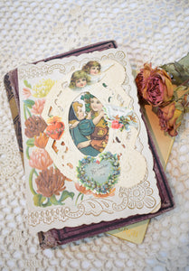 Antique Victorian Die-Cut Valentine's Day Card