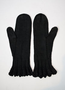 1900s Edwardian Cable Knit Mittens
