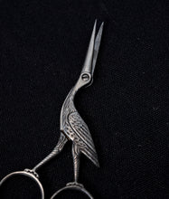 Vintage Silver Heron Sewing Scissors