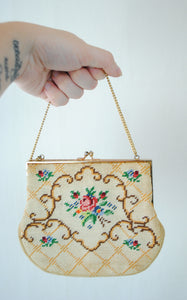 1950/60s Needlepoint Evening Bag