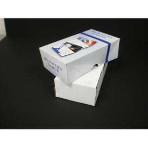 "500 Count Business Card Box Set - 4 Color - 6 1/2""L X 3 1/2""W X 2""H Item #B500"