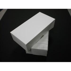 "500 Count Business Card Box Set - White - 8.25""L X 3 1/2""W X 2""H Item #KS255"