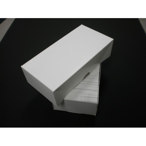 500 Count Business Card Box Set - White  7 1/4