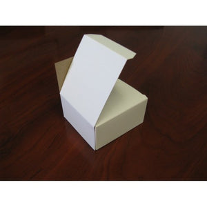 "250 Count Business Card Box - White - 3.75""L X 3 1/2""W X 2""H Item#XF103XX"