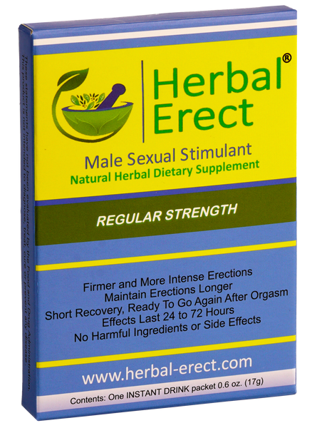 Regular Strength (12 pack) - Herbal Erect [$8.00 each]