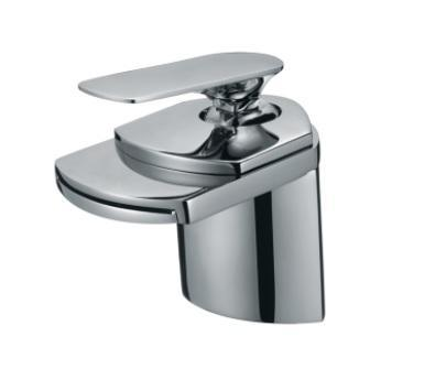 "Single Handle Bathroom Faucet Brass Body 4.5"" - Chrome Finish"