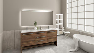 Luna 72 - Vanity Set -  Bagnotti USA Luxury European Bathroom Furniture (3dsmax image is Artist rendered for illustration purpose in bathroom, may not represent actual real life texture)