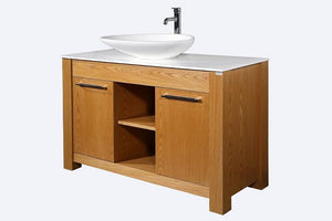 Leo 48 Oak Wood - Vanity Set CLEARANCE - Bathroom Vanity Bagnotti USA Luxury European Bathroom Furniture