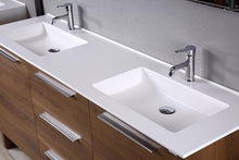 "71"" Glossy White Vanity Set (Free Pop-up Drains) - Bathroom Vanity Bagnotti USA Luxury European Bathroom Furniture"