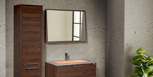 Mira 40 - Tobacco Oak Vanity Set - Bathroom Vanity Bagnotti USA Luxury European Bathroom Furniture