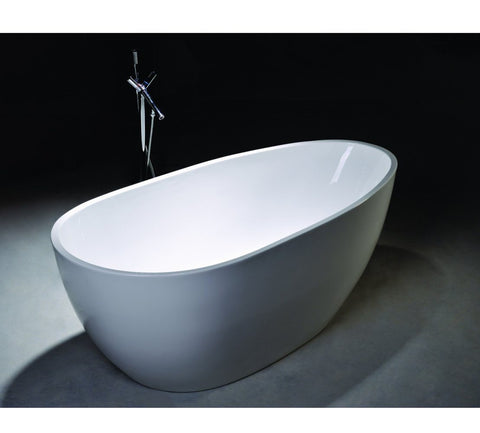 "68"" Egg Shaped White Acrylic Bath Tub - WE6515"