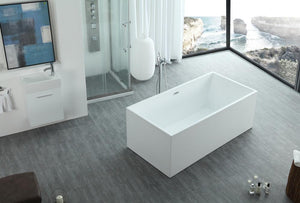 "67"" White Acrylic Bath Tub (Rectangular) - WE6813b"