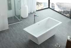 "67"" White Acrylic Soaker Bath Tub (Rectangular) - WE6817"