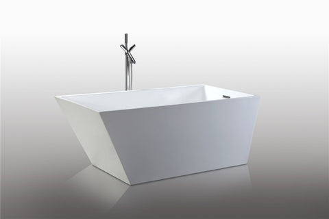 "67"" Freestanding Acrylic Bath Tub (Rectangular) - WE6844"
