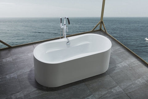 "66"" Freestanding Soaking Bath Tub  Acrylic - WE6847"