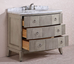 "41"" SOLID WOOD SINK VANITY WITH MARBLE TOP"