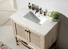 "36"" SOLID WOOD SINK VANITY WITH MOON STONE TOP"