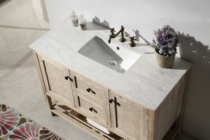 "48"" SOLID WOOD SINK VANITY WITH MOON STONE MARBLE TOP"