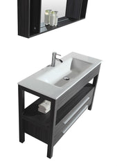 "48"" Black and Gray SINK VANITY  WITH MIRROR"