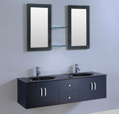 "59"" Espresso SINK VANITY  WITH MIRROR"