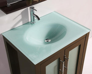 27.5 Dark Chocolate SINK VANITY  WITH MIRROR