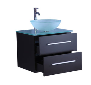 "24"" Espresso SINK VANITY  WITH MIRROR"
