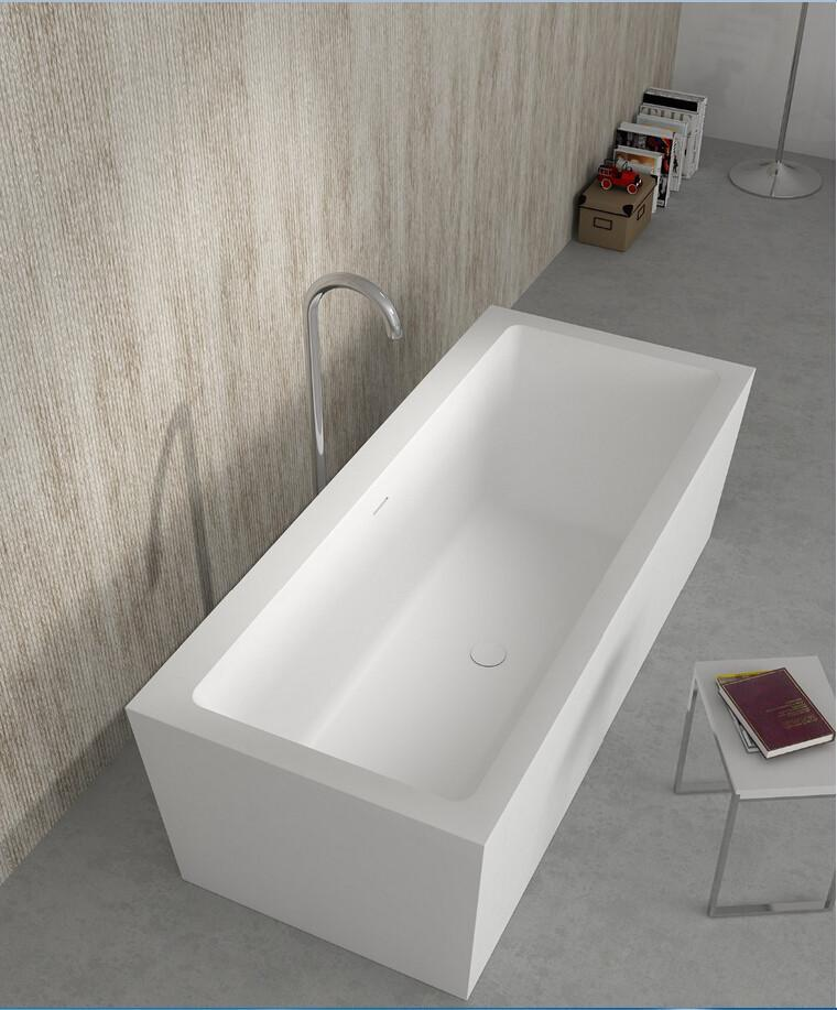 1800x800x580mm Corian Bathtub Oval Freestanding Solid Surface Tub