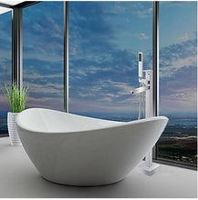 Free Standing Bathroom Bathtub Faucet + Handheld Shower Chrome Finish