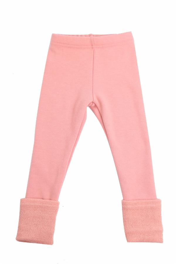Folded Hem Leg Warmer Leggings - Pink